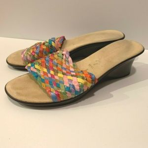 😊 Italian Shoemakers Wedge Sandals Size 8 Slip On